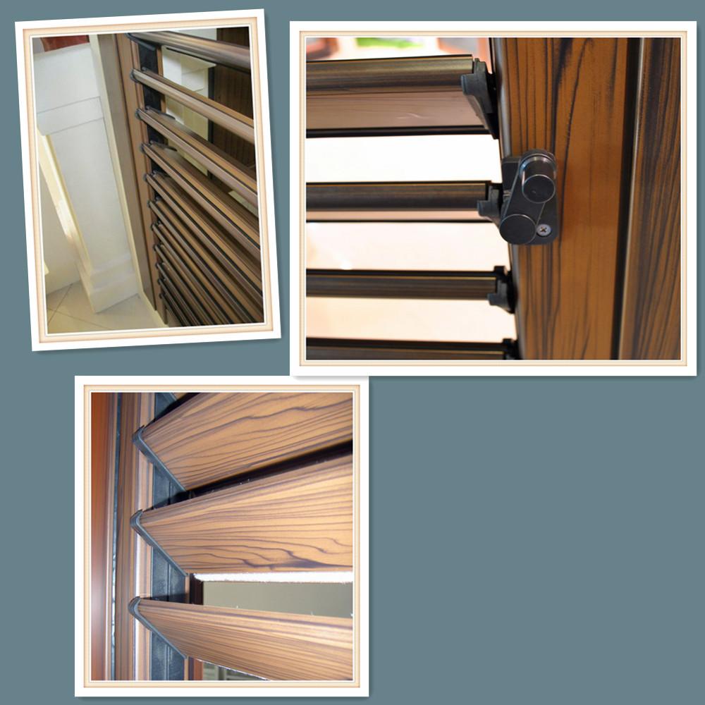 2016 New Adjustable Aluminium Interior Swing Louver Door