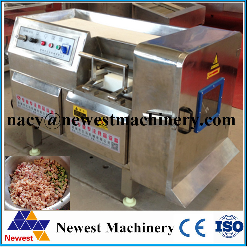 Industrial used chicken meat dicer machine,fresh meat cutting machine,meat cube cut machine