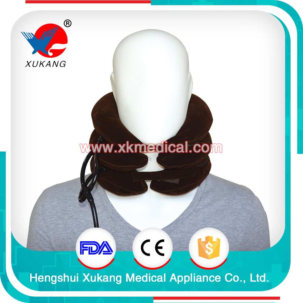 Three Tube With Whole Flannel Cotton Cervical Collar Tractor Belt (type IV)/Cervical Traction Apparatus Passed CE&FDA