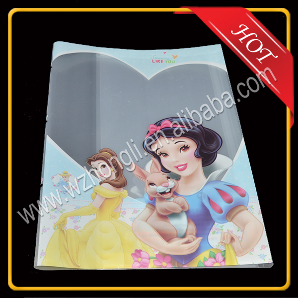 Popular students clear plastic cartoon book covers