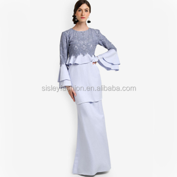 2017 New Design Baju Kurung With Lace Custom Design Baju ...