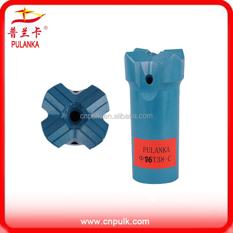 64mm76mm T38 tungsten carbide X-type thread rock drill bit