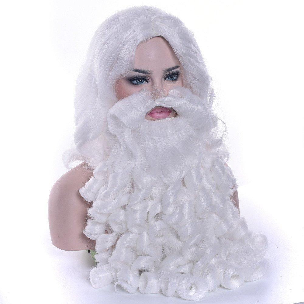 Santa Beard and Wig Set Christmas Party Santa Claus Cosplay Wigs