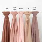 Wholesale silk chiffon quality scarf for women solid Plain 50 colors can be Muslim hijab Scarf women