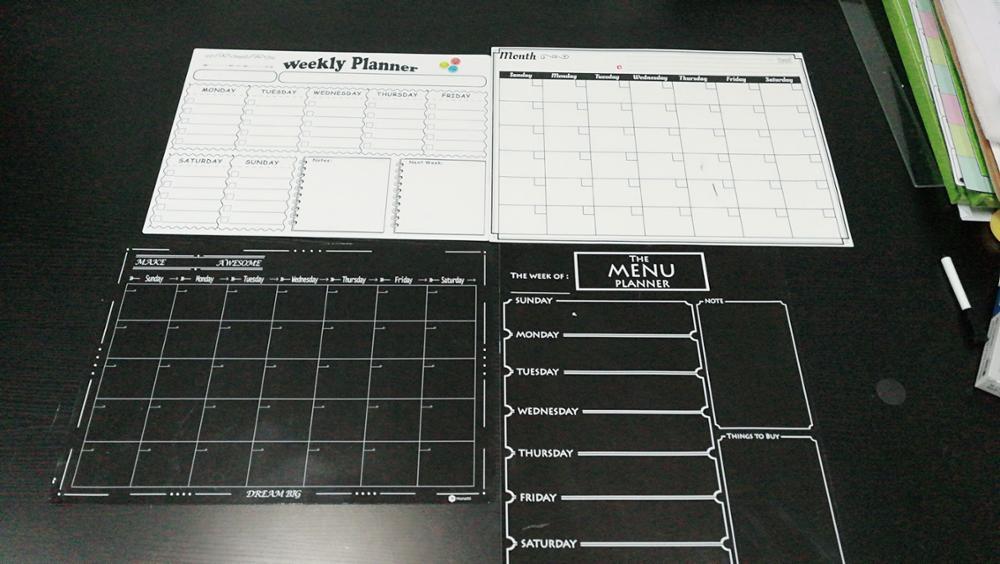 Kühlschrank Kalender : Oem magnetischen kühlschrank kalender trockenen löschen schwarz