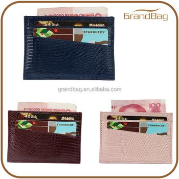 Luxury lizard leather business card wallet mini card holder slim luxury lizard leather business card wallet mini card holder slim design card pouch colourmoves