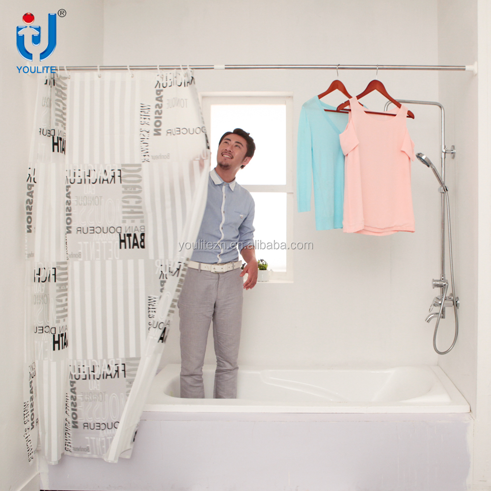Hot sale straight telescopic adjustable shower curtain rod