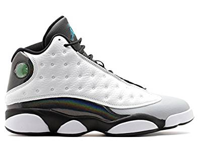 c485ca483b07 Buy Nike Mens Air Jordan 13 Retro White Tropical Teal-Black-Wolf Grey  Leather Basketball Shoes Size 9 in Cheap Price on m.alibaba.com