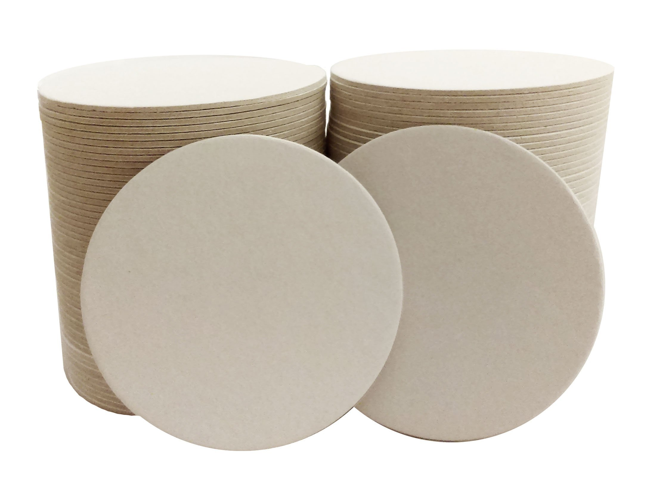 Round Plain Off White Coasters 4 Inches 125