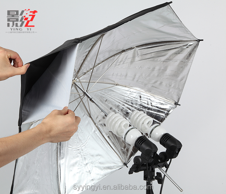 New arrival black outer silver inner photographic equipment studio umbrella