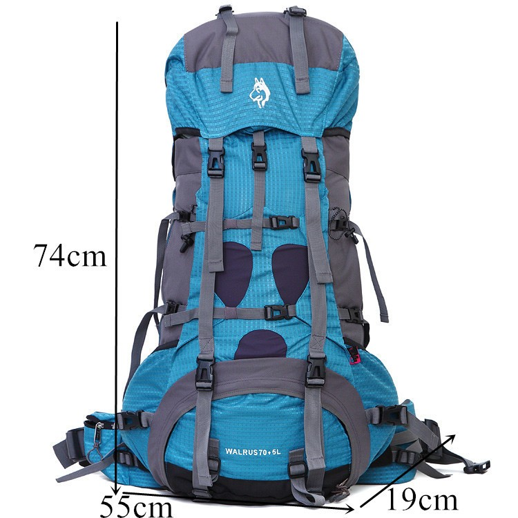 Multi Colors Big Capacity 70L Camping Outdoors Hiking Climbing Travel Waterproof Backpack