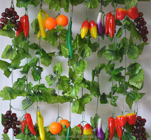 spring new product wholesale artificial vine fruit garland for home decor