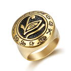 Punk 316L Stainless Steel God Rings Egyptian Pharaohs Eye of Horus men ring