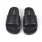 2018 Hot PU slider slippers with custom logo