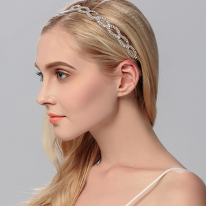 Fashion Crystal Elastic Headbands Bride's Tiara Wedding Hair Vine Accessories for Women Wedding Hair ornaments