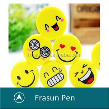 Korean Style Eraser Novelty Smiling Face Shape Eraser Kids Toys