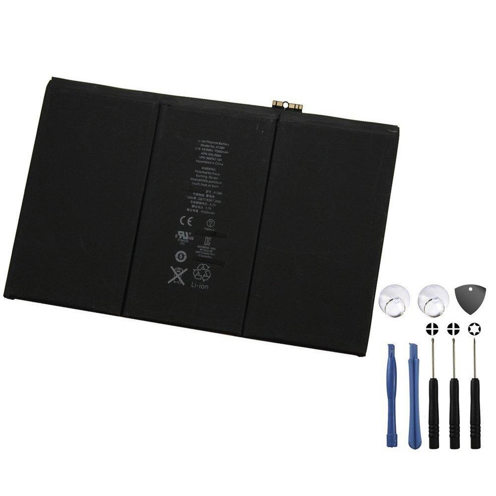 BinTEK Apple iPad 3/4 Battery PREMIUM 11560mAH Li-Po Premium Battery iPad 3 iPad 4 with Repair Tool Kit / Compatible with models A1416, A1430, A1403, A1458, A1459, A1460