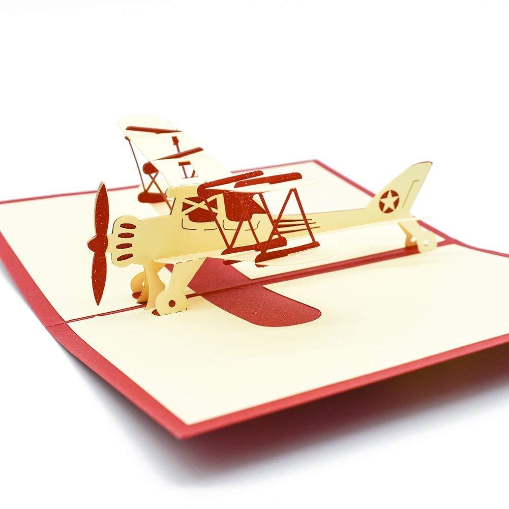 Поп-ап открытка самолет, картинки девушками открытка
