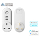2018 new design alexa google control outlet plug double usb smart wireless socket with pulg