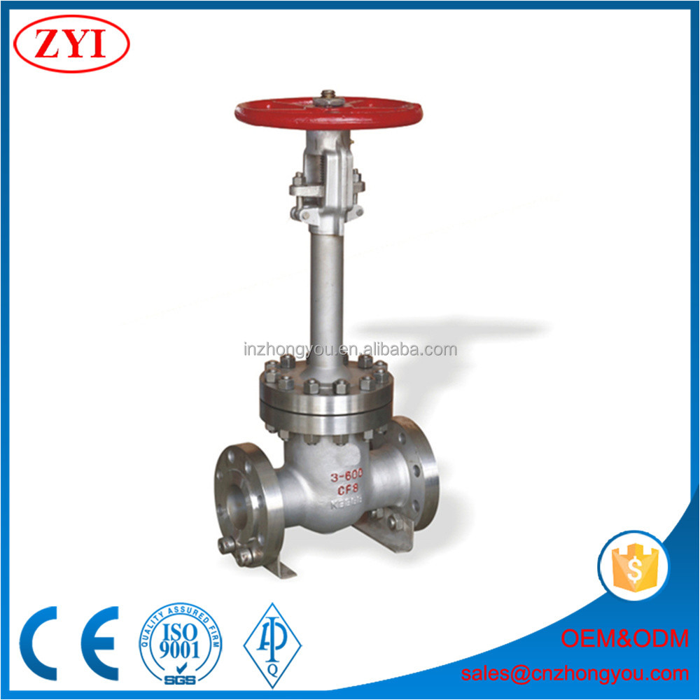 Cryogenic 3 inch low temperature extend stem globe valve