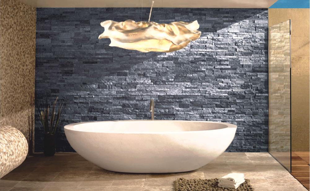 150x600mm sguardo di pietra esterno texture pietrainstallazione di