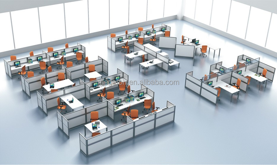 New Design Linear Office Staff Workstation For Open Office