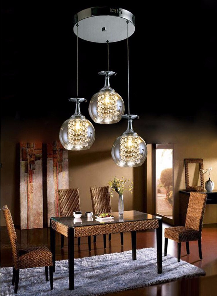 Simple Antique Contract Indian Wine Glass Ball Droplight ...