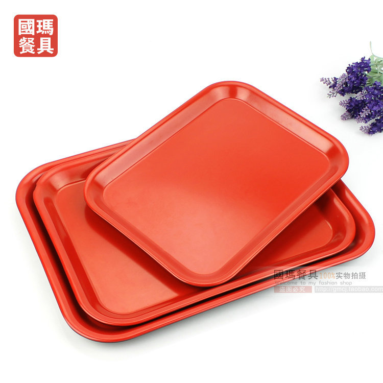 14inch serving tray chinese melamine tableware vintage black red cake tray christmas plastic fruit candy platelunch dinner tary