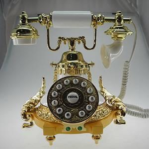 BO European antique telephones metal classic European retro home telephone villa for living room decor princess paragraph , white