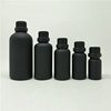 Cosmetic 30ML Matte Black Frosted Glass Round Shape Essential Oil Bottle With Cap