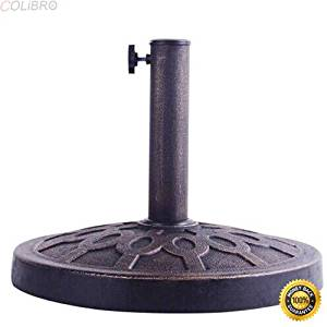 "COLIBROX--18"" Round Umbrella Base Stand Market Patio Standing Outdoor Living Heavy Duty,umbrella stand home depot,indoor umbrella stand,black umbrella base,umbrella stand outdoor"