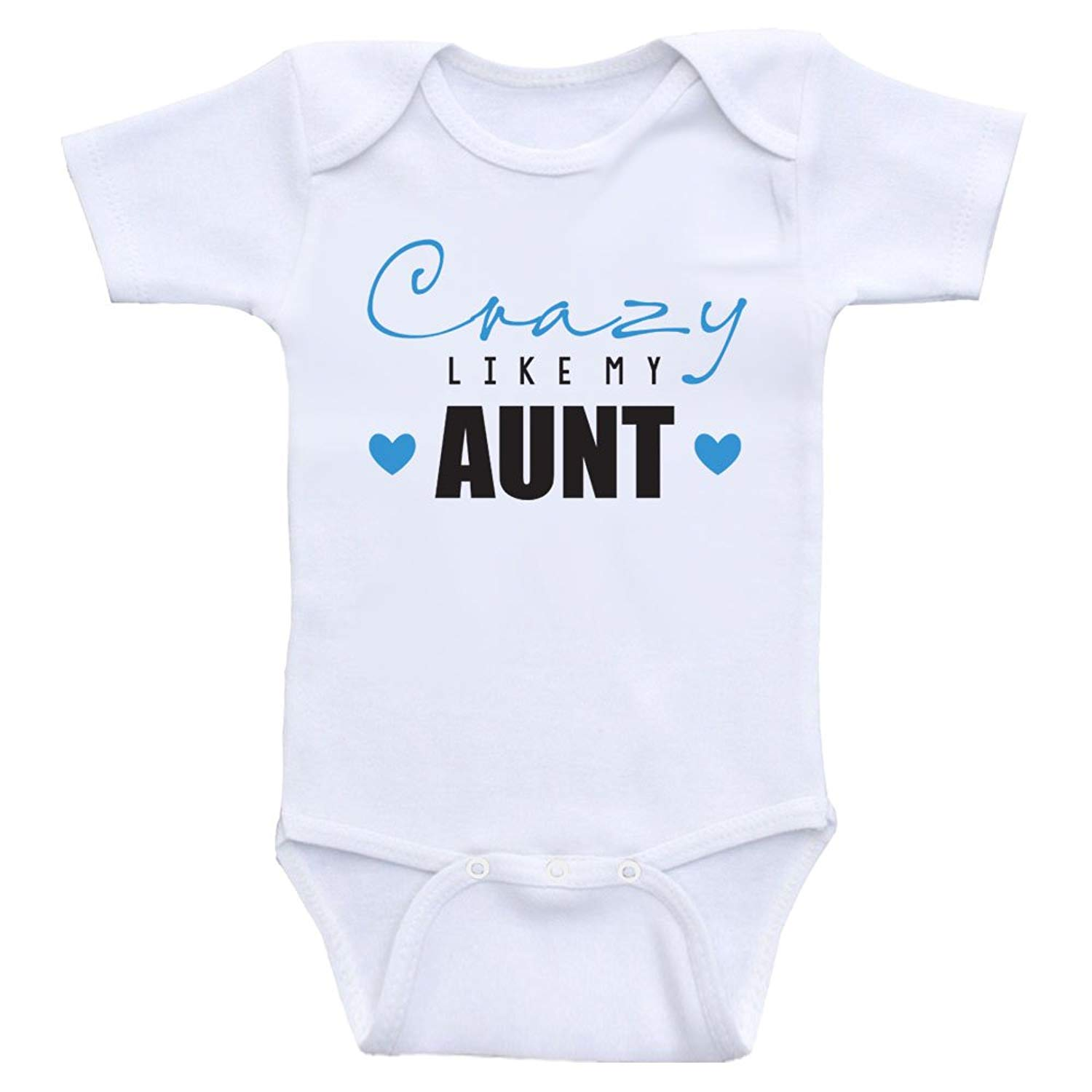 f7251231 Get Quotations · Heart Co Designs Funny Aunt Baby Clothes Crazy Like My Aunt  Funny Unisex Baby Clothes