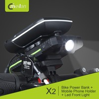 2017 hot sale bike mobile power bank + LED headlights