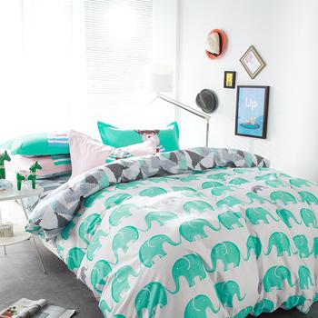 100% Cotton 4pcs Bedsheets Printed Bedding Set