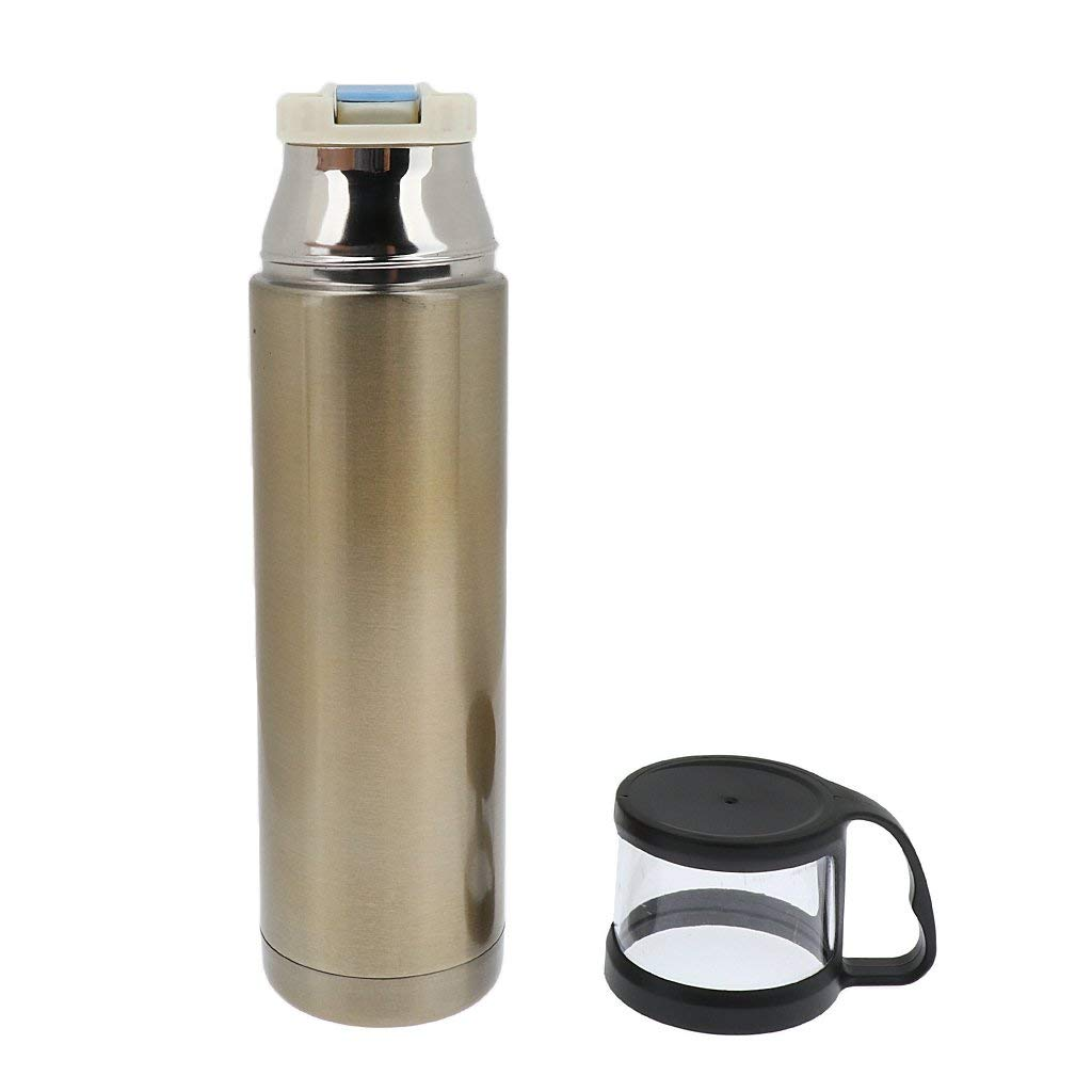MagiDeal Stainless Steel Water Bottle Outdoor Insulated Leakage-proof Drink Cup 500ml Drink Flask Bottle