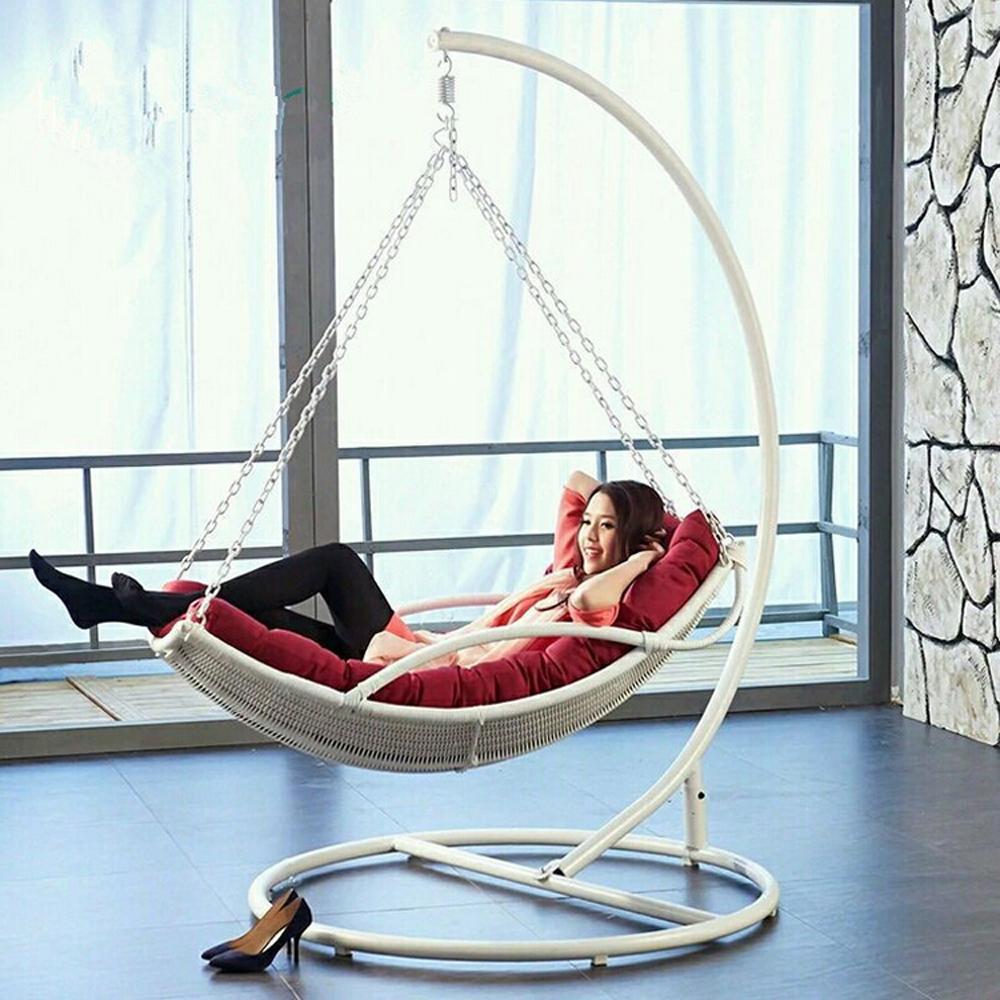 faul h ngematte rattan h ngenden schaukel stuhl in schmiedeeisen st nder terrasse schaukel. Black Bedroom Furniture Sets. Home Design Ideas