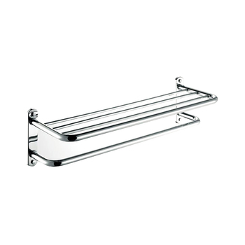 Stainless Steel Towel Rackdouble Layer Towel Holder Wall Mounted