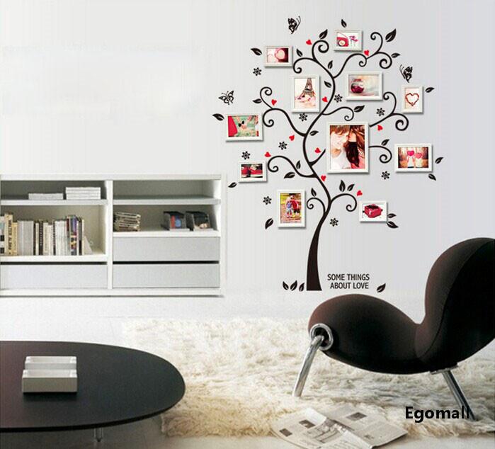 arbre cadre photo bricolage 3d vinyle stickers muraux home decor conception salon canap affiche. Black Bedroom Furniture Sets. Home Design Ideas