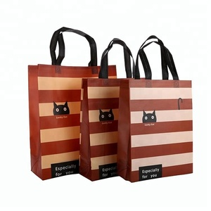 Manufacturer Wholesale Promotional Price Recyclable Fabric Shopping Tote Carry Custom Vertical 105 GSM PP Non Woven Bags