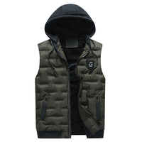 Winter Wholesale Padded Outdoor Mens Waistcoat Hooded Puffer Vest