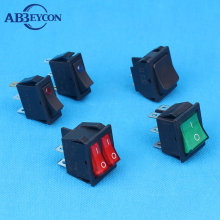 Abbeycon Wholesale High Quality mini 4/6 pins red illuminated rocker switch/on-off waterproof boat switch with led