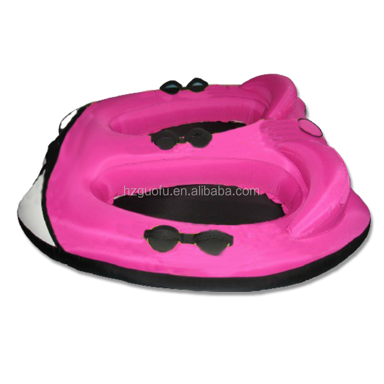 2 Person Inflatable Towable Boat Tube with Nylon or Polyester Fiber Rope