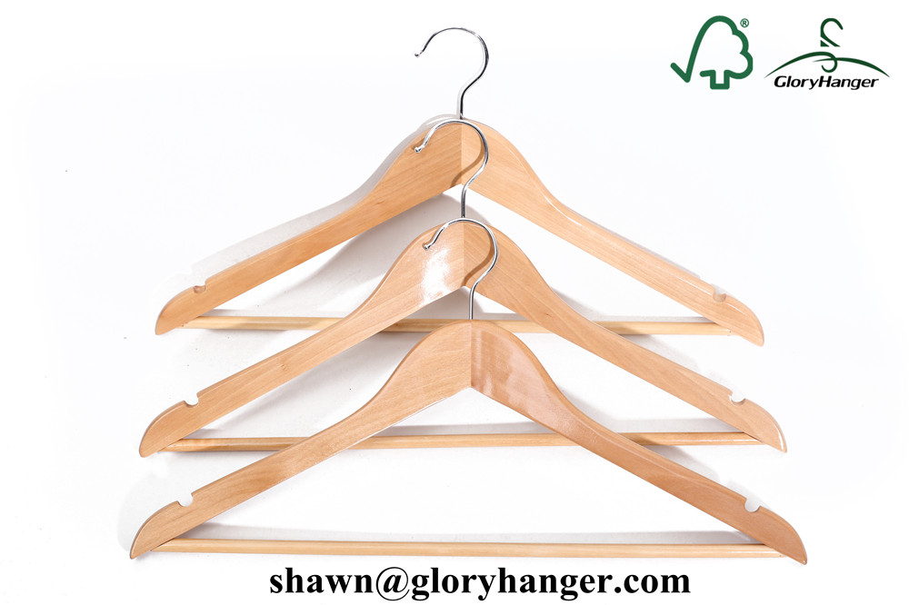 Wholesale Cheap Shop Clothing Wooden Hangers With Good Quality