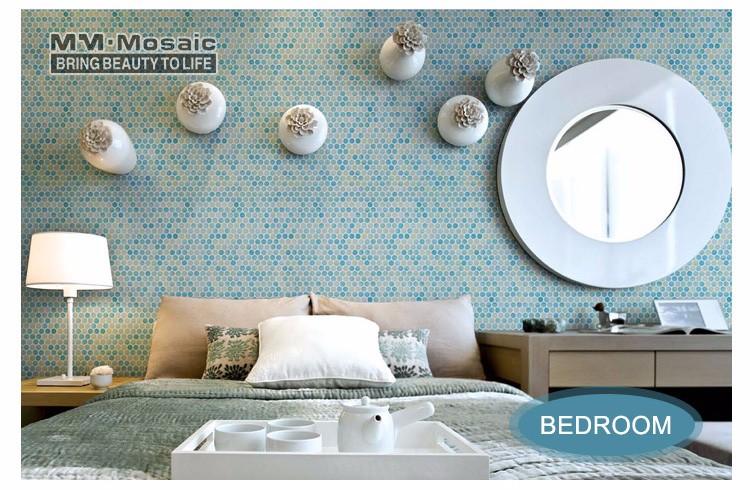 Gradiënt blauw geel badkamer en keuken kamer plint deco cirkel