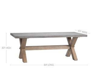 NEW ARRIVAL RECTANGULAR CONCRETE DINING TABLE