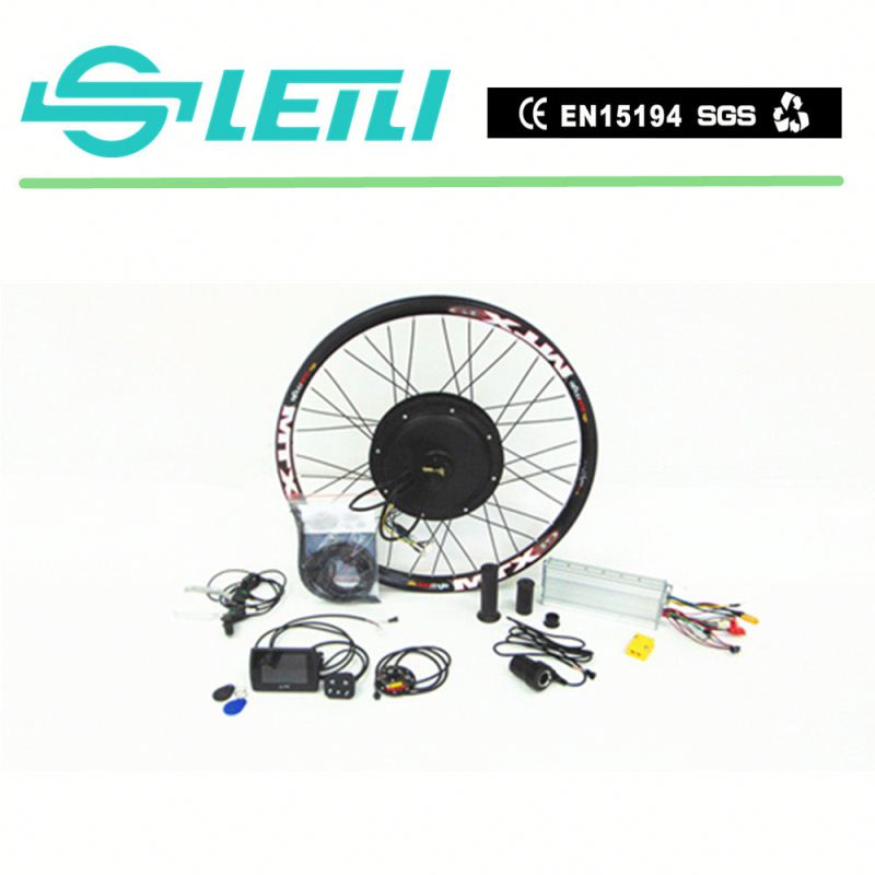CE pass light small hub motor high speed 1500w electric bike engine kit with lithium battery