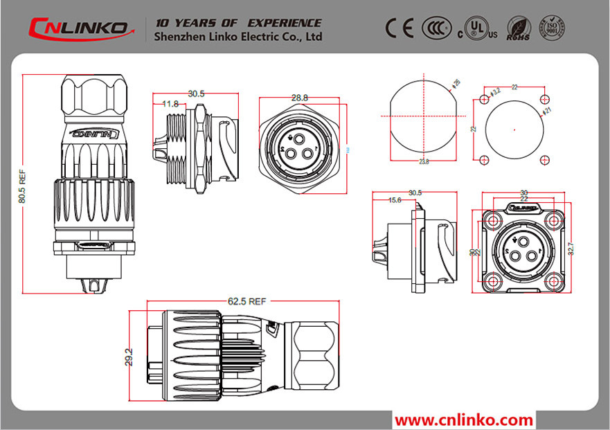 Waterproof Jack Round Trailer Plug 4 Pin Circular Connector - Buy 4 on 4 pin trailer harness schematic, 4 pin flat connector, 4 pin fan connector, 4 pin mic plug drawing, 4 pin connector cable, 4 pin trailer diagram, 4 pin connector power supply, 4 pin xlr adapter, 4 pin trailer adapter, 4 pin molex power, 3-pin fan connector diagram, 4 connector trailer wiring diagram, 4 pin fan header pinout,