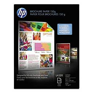 "Hp - Color Laser Brochure Paper 97 Brightness 40Lb 8-1/2 X 11 White 150 Shts/Pk ""Product Category: Paper & Printable Media/Printer Paper"""