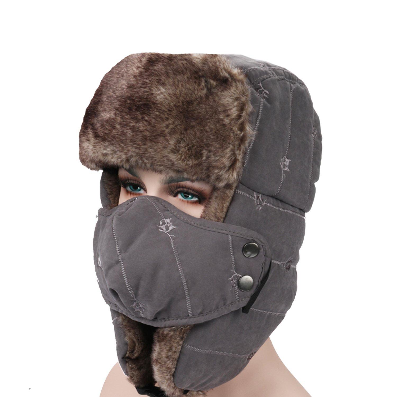 ... Fur Men Women Bomber Hats Lace Trapper Hat Winter Warm  cute a7b77  76769 Get Quotations · Unisex Winter Trooper Ushanka Hat Hunting Hat Cap  with Ear ... 5e9258dd445e