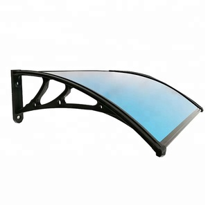 Metal aluminum bracket polycarbonate door canopy awning for balcony